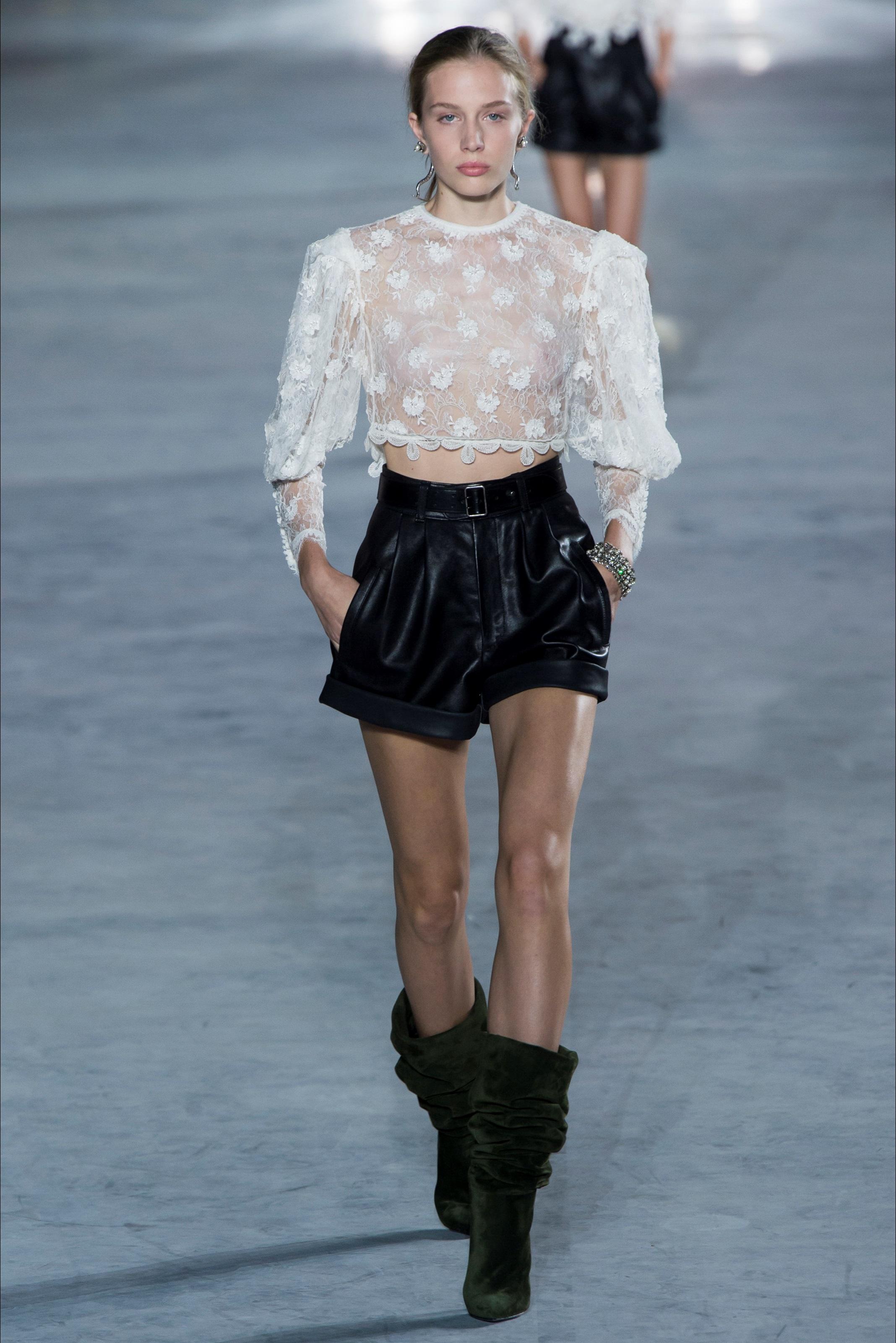 Camicia Ricamata Bianca Saint Laurent