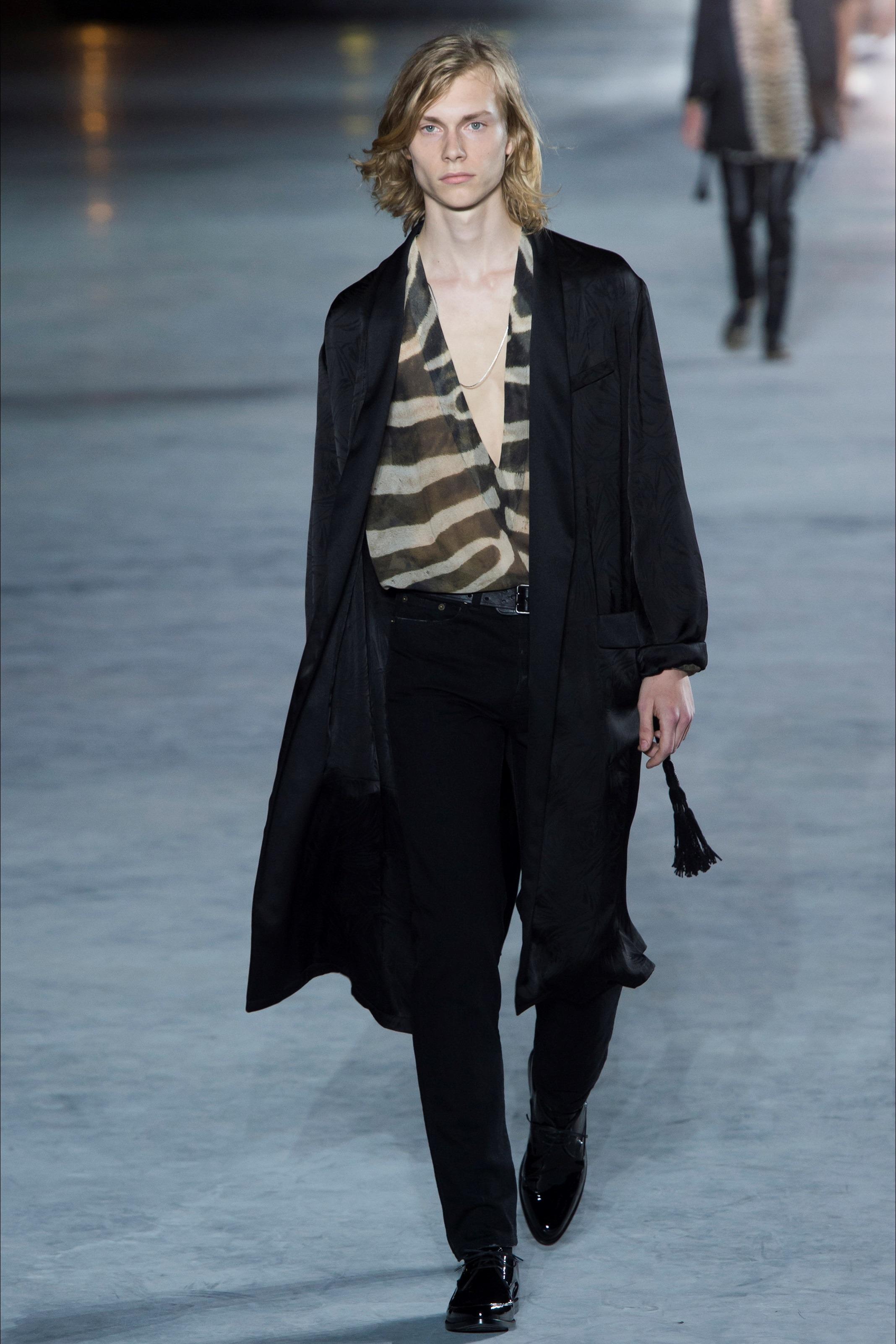 Camicia Scollata Zebrata Saint Laurent