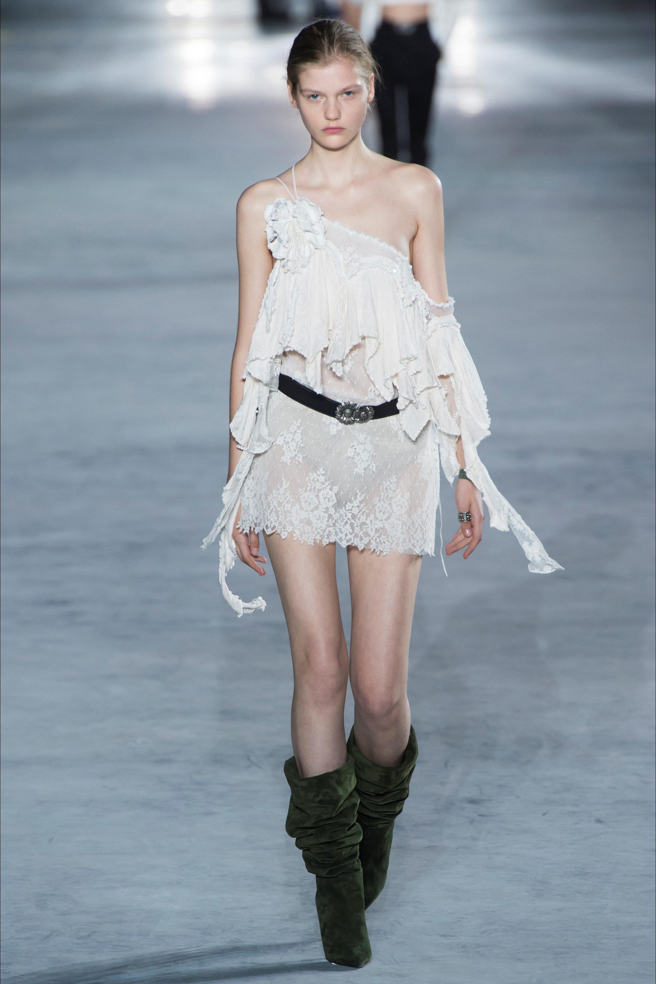Vestito Bianco Saint Laurent