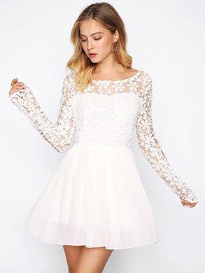 Vestito Bianco Corto SheIn